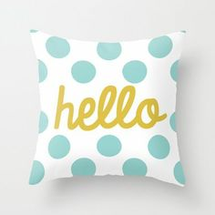 hello pillow from what the print #DailyLifebuff