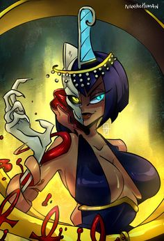 Recently played skullgirls with the beb and beat his ass! Sooo in the mood to upload this painting of Eliza, one of the play. Skullgirls, Fantasy Characters, Female Characters, Geeks, Fighting Games, Anime Eyes, Monster Girl, Video Game Art, Sexy Cartoons