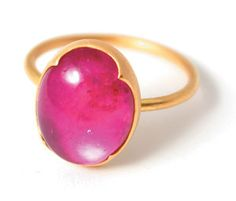 @QUADRUM Gabriella Kiss rubelite ring is perfectly pink and so very pretty.