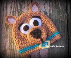 Crocheted Dog Great Dane Character Hat Adult Size by HattieHooker, Crochet Kids Hats, Crochet For Boys, Crochet Beanie, Knit Or Crochet, Cute Crochet, Crochet Scarves, Crochet Crafts, Crochet Projects, Crochet Character Hats