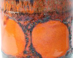 Scheurich Keramik Vase 517-30 Blumenvase Germany Vintage Orange Braun 60er 70er Retro Fat Lava -    Artikel bearbeiten  - Etsy