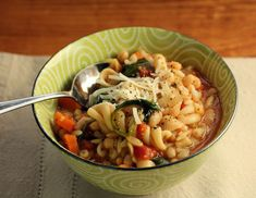 Classic pasta e fagiole soup. recipe by The Perfect Pantry