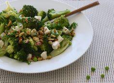 Easy healthy groene lunchsalade