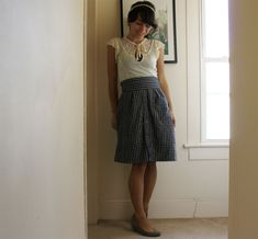 View details for the project The Scranton Skirt, courtesy of a men's dress shirt on BurdaStyle.