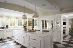 white kitchen check tiles - Google Search
