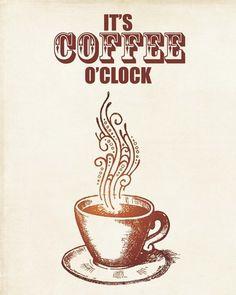 It's coffee o'clock!... ** The PopDot Artist ** Please Join me on the Twitter @Lara Elliott Tucker Byrd  Be my Friend on the FaceBook -- http://www.facebook.com/AlabamaBYRD ** feases y citas sobre el #café