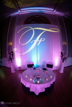 We also create custom backdrops with monograms!