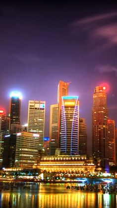 Singapore Night Skyline -- Can't wait to have my eyes land on this skyline!