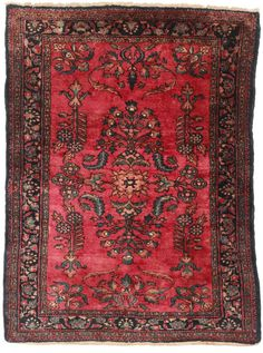 3 6 X 4 9 Persian Lilihan Hand Knotted Wool Area Rug