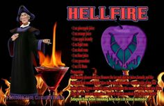 Hellfire. Disney theme drinks