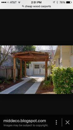 Cute carport.