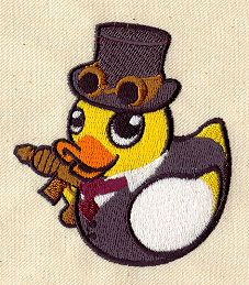 Embroidery Designs at Urban Threads - Steampunk Duckie