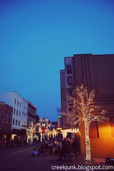 Christmas downtown Clarksville, Tennessee