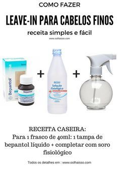 leave in cabelo fino self care ideas beauty helpful beauty tips health and beauty diy how to take care Beauty Tips For Face, Beauty Secrets, Hair Beauty, Beauty Products, Face Tips, Beauty Guide, Beauty Ideas, Beauty Tricks, Leave In