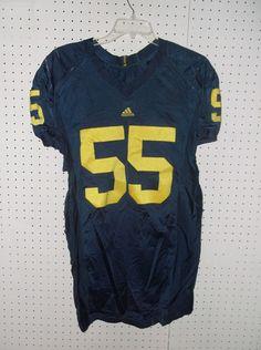 RARE Michigan Football Game Worn College Jersey Brandon Graham #55 ~ Adidas