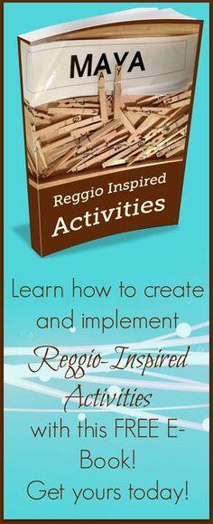 FREE E-Book full of Reggio-Inspired activities! Reggio Emilia Preschool, Reggio Emilia Classroom, Reggio Inspired Classrooms, Preschool Classroom, Preschool Activities, Teaching Kindergarten, Classroom Ideas, Preschool Curriculum, Homeschool