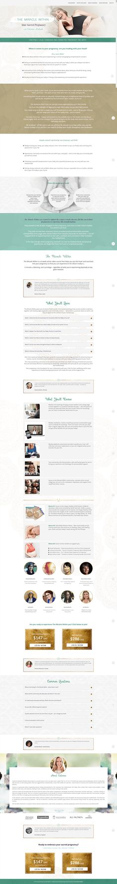 Miracle Withing Sales Page - design by Coral Antler Creative Landing Page Design, Business Website, Web Design, Coral, Coding, Branding, Ads, Inspiration, Marketing