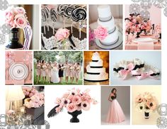 2013 Light Pink and Black Colour Trend Wedding Dreams, Dream Wedding, Color Trends, Color Palettes, Wedding Colors, Colours, Table Decorations, Pink, Beautiful