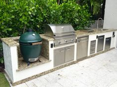 Ways To Choose New Cooking Area Countertops When Kitchen Renovation – Outdoor Kitchen Designs Granite Tile Countertops, Outdoor Kitchen Countertops, Patio Kitchen, Bathroom Countertops, Outdoor Kitchen Design, New Kitchen, Outdoor Kitchens, Outdoor Cooking, Outdoor Spaces