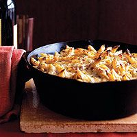 Penne with Three Cheeses and Porcini Mushrooms