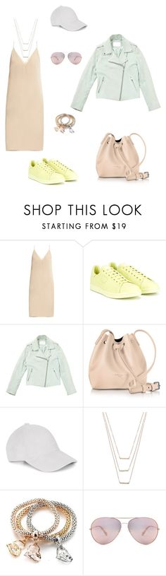 """Сочетание цветов одной степени насыщенности"" by lshuttt ❤ liked on Polyvore featuring Raey, adidas, Gant Rugger, Lancaster, Le Amonie and ERTH"