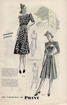 Butterick Fashion News March 1939 | VintageStitches.com