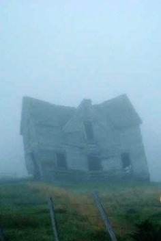 Old Farm House In The Fog