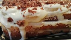 Банановый торт со сметанным кремом рецепт с фото