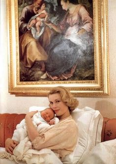Grace Kelly & baby