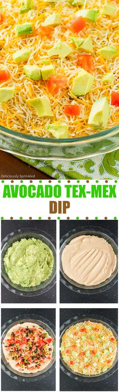 Avocado Tex-Mex Dip- an easy to make game day dip, that is ALWAYS a huge hit!