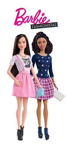 These are so different now! cool. Barbie Fashionistas are inspiring all children to Be Super! [ad]