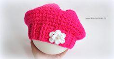 Návody háčkování Krampolinka · Návody a videa na háčkování Crochet Baby, Free Crochet, Mittens, Crochet Projects, Crochet Patterns, Cap, Retro, Barrette, Youtube