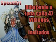 Dibujando a toda caña 47 Pareja Vikinga invitado especial Speed art