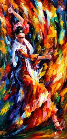 """Flamenco Dancer"", by Leonid Afremov. Colorgasmic, like all of his (many) works."