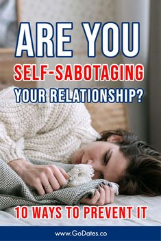 Are you in a happy relationship, but you still feel anxious and frustrated? Do you rock the boat and cause conflict when there is no real issue? You might be self-sabotaging your relationship. Let's dive in and explore the signs of self-sabotaging behavior and ten tips on how to prevent this from happening. #relationships #sabotaging #couples Healthy Relationship Quotes, Boyfriend Quotes Relationships, How To Improve Relationship, Happy Relationships, Rekindle Romance, Dating Tips For Women, Dating Again, Lifestyle Group, Finding Love
