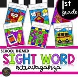 Back to School Themed First Grade Sight Words Color by Code First Grade Sight Words, Sight Word Practice, Sight Word Activities, Literacy Activities, Sight Word Coloring, Reading Lesson Plans, I Can Statements, Esl Lessons, Reading Levels