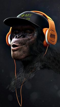 Love myself, the king kong banging on his chest never be defeated, put on (t)his music Animal Wallpaper, Mobile Wallpaper, Wallpaper Backgrounds, Gorilla Wallpaper, Monkey Art, Monkey King, Foto Top, Photo Chat, Bd Comics