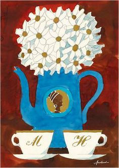 Coffee poster in blue by Ib Antoni