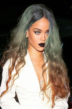Her hair is a mess but her eye makeup is everything.