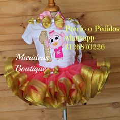 Conjunto tutú Patita Lulú #Marideas Lisbon, Margarita, Ideas Para, Indiana, Pastel, Christmas Ornaments, Holiday Decor, Birthday, Baby