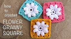 This is video tutorial step-by-step about how to crochet flower into granny square.   First we make 7 sc in a magic circle, join with slip stitch, in which we will have 8 loops. And then make Popcorn Stitch in each loop. We will have 8 petals flower. Next we will crochet these flower into granny square.