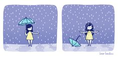 happy, life, and cute image Rain Illustration, Illustrations, Its Gonna Be Okay, Doodles, Kawaii, Dancing In The Rain, Rain Dance, Dance Art, Inspiration Quotes