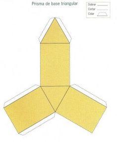 Prisma de base Triangular.recortable figuras geometricas bidimensionales