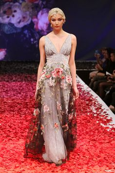 Claire Pettibone 'Raven' wedding dress (front), Still Life Collection, 2014 Fashion Show, Bridal Market Photo: Anton Oparin