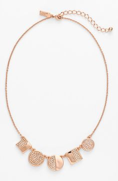 Staying sparkly for fall with this Kate Spade crystal frontal necklace.