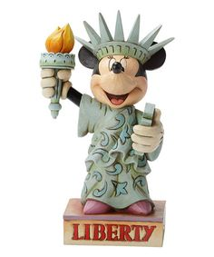 Love this Jim Shore Minnie Mouse Statue of Liberty Figurine by Jim Shore on #zulily! #zulilyfinds