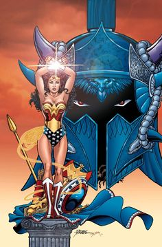 Wonder Woman and Ares by George Perez