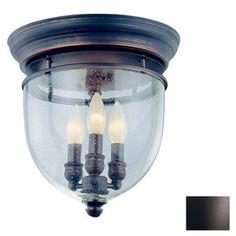 DVI 11-1/4-in Oil-Rubbed Bronze Clear Glass Traditional Semi-Flush Mount Light $260.00