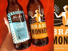Some of my recent label designs for No-Li Bewhouse!  And my weird scrunched up hand.