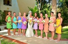 """my """"rainbow"""" inspired wedding in mexico"""